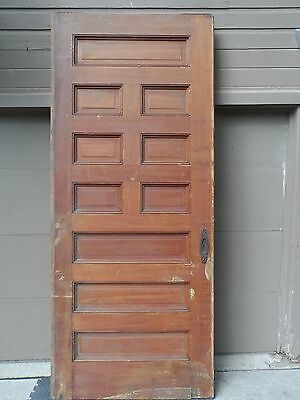 Antique Oak Oversize Pocket or Swing Door. Raised Panel. 3