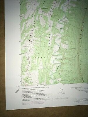 Meadow Grounds PA. Fulton USGS Topographical Geological Survey Quadrangle Map 4