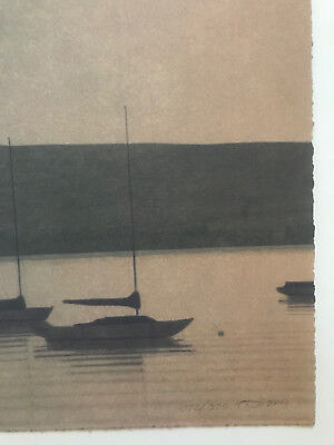 RUSSELL CHATHAM, Original lithograph, Still Evening at Tomales Bay, S/N/D 2