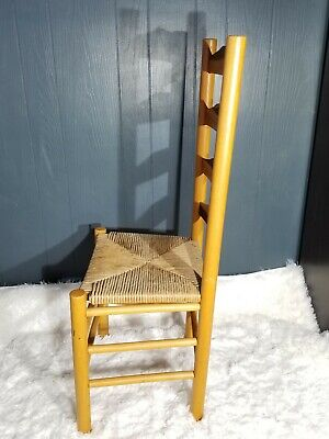 Antique Shaker Style Ladder Back Accent Chair Woven Seat (2 available) 3