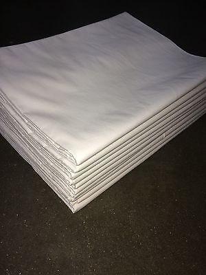 2x Bettlaken 150x250 cm 140 g/m²  weiß Baumwolle *Hotel-Qualität* ohne Gummi