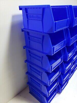 Akro-Mils AkroBin Stack & Hang Bin 5-3/8D x 4-1/8W x 3H Blue  24 pack 2