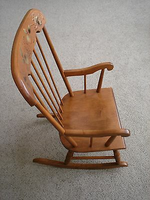 Awe Inspiring Vintage Oak Hill Childs Rocking Chair Made In Usa Excellent Machost Co Dining Chair Design Ideas Machostcouk