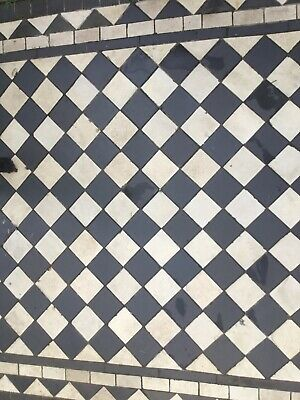 Encaustic Reclaimed Antique Victorian floor path tiles 6