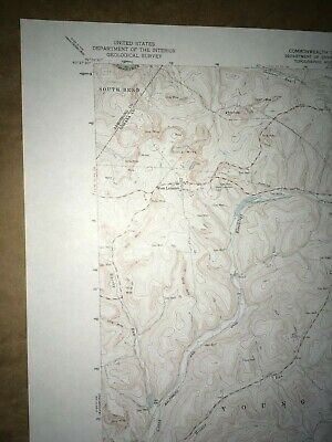 McIntyre PA. Indiana Co Old USGS Topographical Geological Survey Quadrangle Map 2