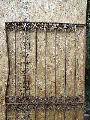 Antique Victorian Iron Gate Window Garden Fence Architectural Salvage Door U 3