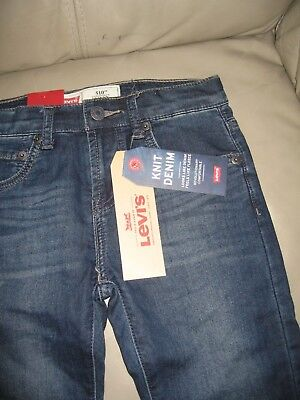 Levi's Boys Blue Wash 510 Skinny Fit Knit Denim Jeans, Size 10 140cm 2