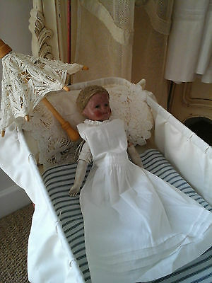 Rare Antique French Boudoir Mannequin Doll~Primitive Porcelain/Linen Textil 1800 11