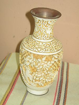 Vintage White Carved Chinese Cinnabar 8 Vase 13000 Picclick