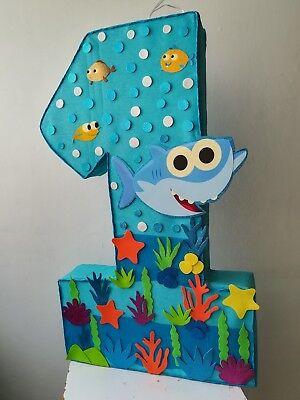Baby Shark pinata baby shark turuturutu birthday party under the sea party
