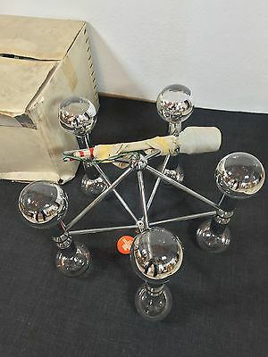 KINKELDEY Space Age ATOMIC Chandelier Pendant Lamp Fermigier Era Verre Lumiere 5 • CAD $1,864.80