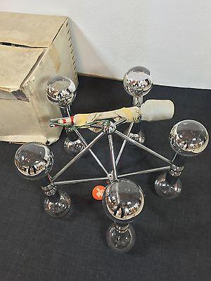 Mid Century 60s KINKELDEY Space Age Chandelier Lamp  Staff Era Stilnovo Sciolari 5
