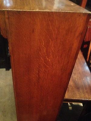 fine quality large antique gothic light golden oak victorian book case 4