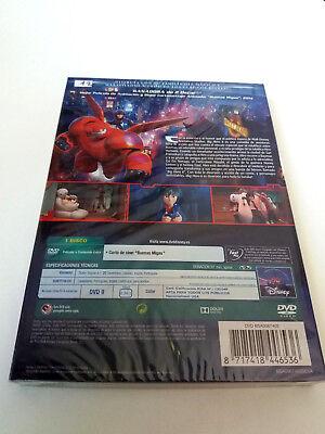 "Dvd ""big Hero 6"" Precintado Sealed Con Funda Carton Slipcover Walt Disney Clasic 2"