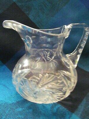 Cut Crystal, Pinwheel Pattern, Creamer & Sugar Bowl Set - Vgc 3