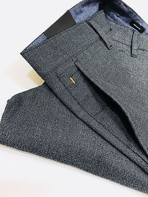 RRP £119 Hugo Boss Slim-fit trousers in overdyed melange stretch cotton