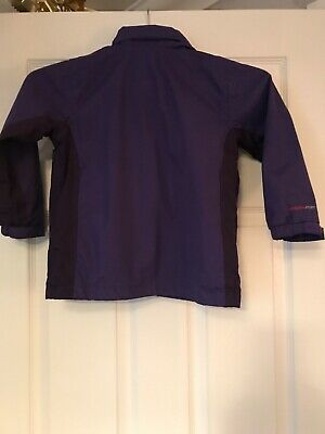 Regatta Hydrafort Purple Hooded Waterproof Coat Age 3-4 Years 2