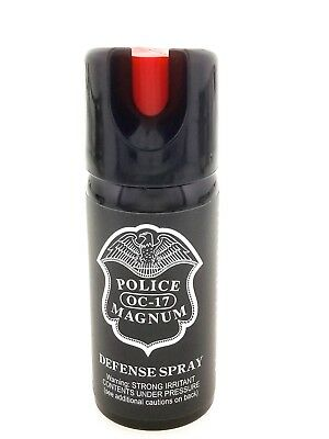 4 PACK Police Magnum pepper spray 2oz ounce Safety Lock Stream Defense Security 2