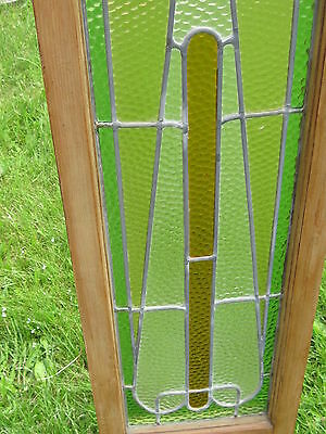 Set Of 3  Antique Victorian Stained Glass Window Transom Ans Side Door Architect 8