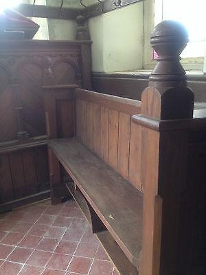 Victorian Church Neo Gothic Pew chapel settle bench Elders Seat TallSlimBookcase 12