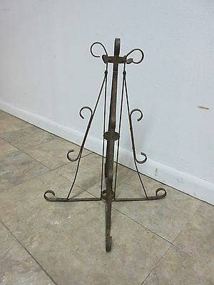 Antique Wrought Iron Scroll Flag Pole Music Stand Ceremonial 3
