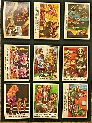 1959 Topps Bubbles You'll Die Laughing singles Nr Mt, Ex-Mt, pick one All Shown!