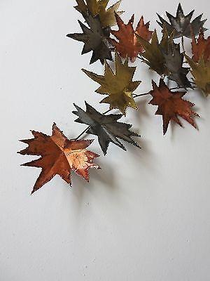 Vintage Mid Century Metal Leaf Leaves Wall Sculpture 4
