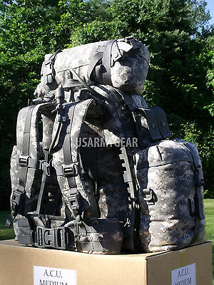 $259 Fully Loaded Molle ACU Medium Rucksack Military Backpack Hydration Pouches 5