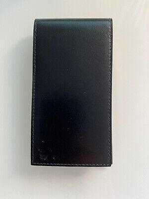 HERMES SMALL BLACK LEATHER NOTEPAD note book Purse Accessory France 2