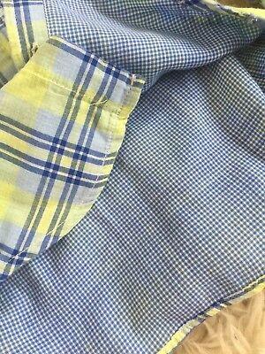 Toddler Boy Baby Gap Plaid Check Print Blue Green Button Down Shirt New 2Y 5