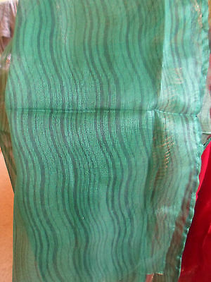 5 NEW Colourful Mixed Fibre Scarves Asian Pakistani Indian Short Duppata  #48 4