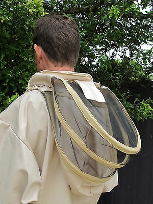 PREMIUM QUALITY Bee Suit Fencing Veil Style - Camel/Biscuit. All Sizes 2