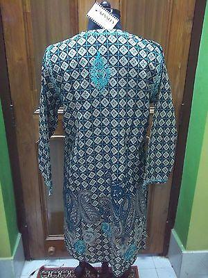 "Exclusive L 42"" Top 100% Cotton Ethnic Chikan Handmade Embroidery Kurta Tunic"