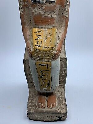 RARE EGYPTIAN EGYPT ANTIQUES ANUBIS God Deity Dog STATUE Carved 3.Kg STONE BC 4