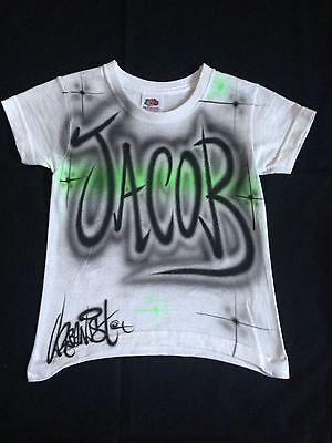 streetdance custom airbrushed children/'s T-Shirts Urbanist Graffiti Hip Hop