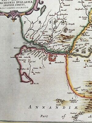 Historic Antique vintage Old Map: Nithsdale, River Nith,  Scotland 1600s REPRINT 8