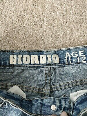 Giogio Boys Blue Straight Casual Jeans 11-12 Years 4
