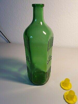 Alte Giftflasche Totenkopf Glasflasche (1 Liter) grün Arzt Apotheke *unbenutzt* 2