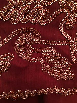 Ladies Beautiful 3 Piece Indian Red Gold Bollywood Shalwar Kameez Suit Size 10 8