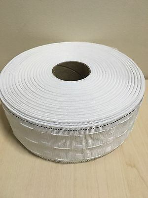10 METERS CURTAIN HEADING HEADER TAPE~PENCIL PLEAT~75mm (3 Inch) WIDE~UK STOCK 3