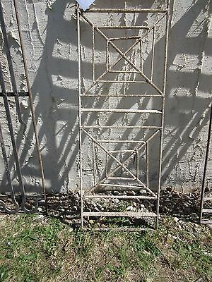 Antique Victorian Iron Gate Window Garden Fence Architectural Salvage Door #408 3