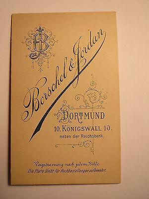 Dortmund - Soldat oder Beamter mit Bart in Uniform mit Orden - Portrait / CDV