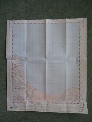 "RARE Ordnance Survey Map 2.5""  COASTAL map SH58 Red Wharf Bay 1956 Llanbedrgoch 2"