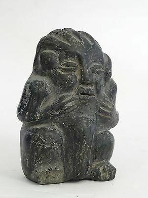 "Antique Pre-Columbian Guatemala Seated Shaman Figure ~ 3.75"" 2"