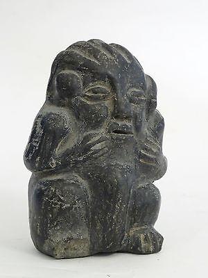 "Antique Pre-Columbian Guatemala Seated Shaman Figure ~ 3.75"" 2"
