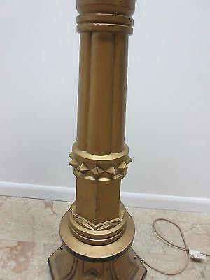Antique Victorian Masonic Mason Taper Pole Lamp Light Lighting 6