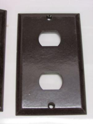 Nos! (71) Bell Interchange Single Gang Wall Plate, 2-Hole Horizontal, Brown