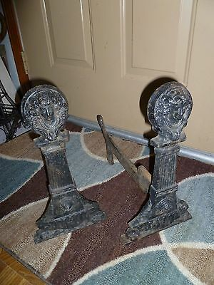 Antique Fireplace Andirons Jenny Lind 2