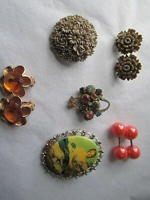 Jewellery various - earrings  and. broaches 5