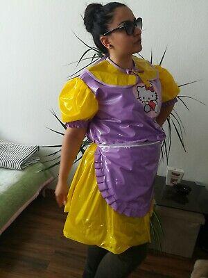 Adult Baby Kleid  INTEGRIERTE Windelhose Sissy PVC LACK Diaper Plastik L-XL 8